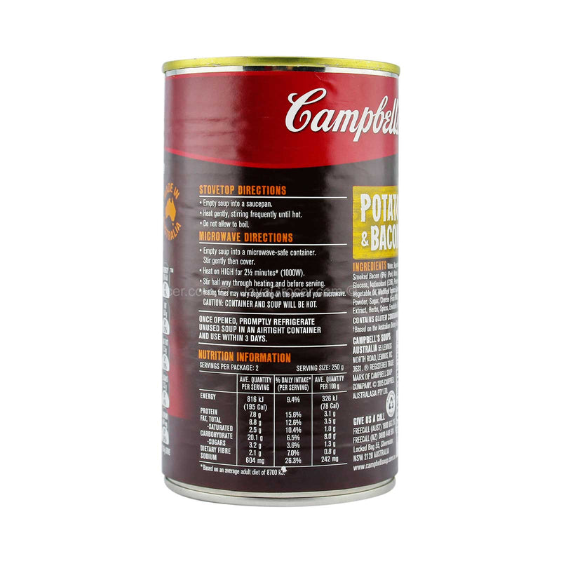 Campbell's Chunky Potato and Bacon Ready to Serve Soup 505g