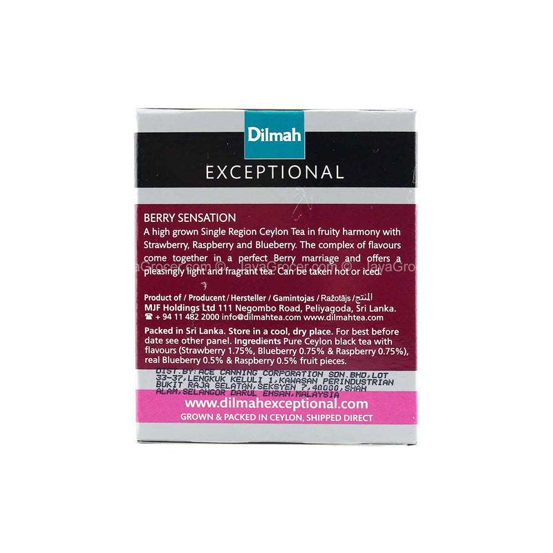 Dilmah Exceptional Berry Sensation Real Leaf Tea 40g