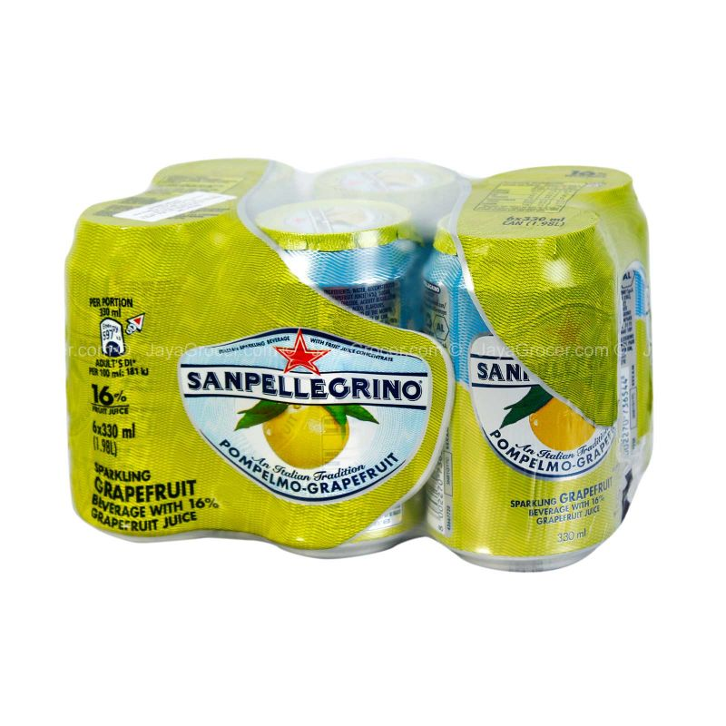 San Pellegrino Pompelmo-Grapefruit Drink Can 330ml