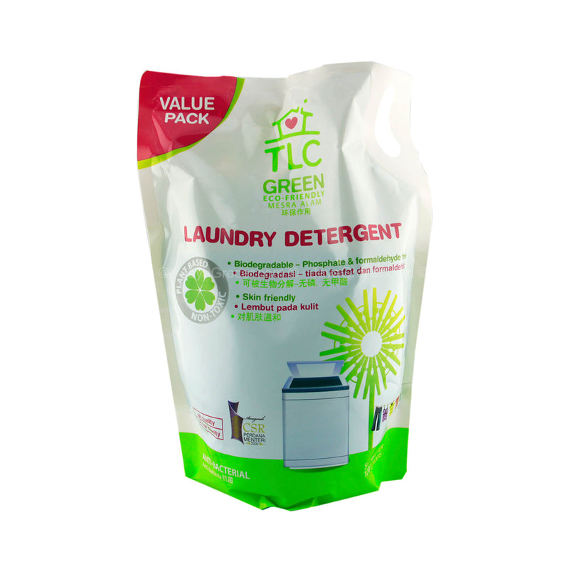 TLC Green Laundry Detergent Liquid Refill Pack 1.8L