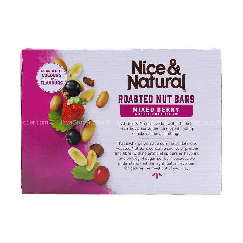 Nice and Natural Mixed Berry Roasted Nut Bar 192g