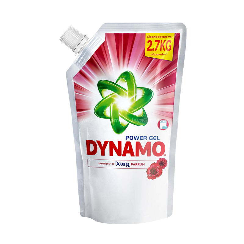 Dynamo Power Gel with Freshness of Downy Passion Liquid Detergent Refill 1.44L