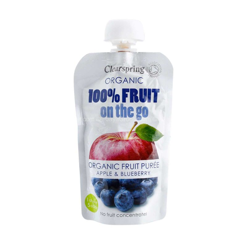 Clearspring Organic Apple & Blueberry Puree 120g