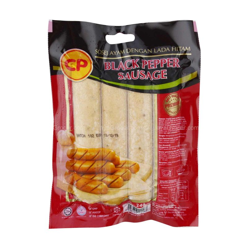 CP Blackpepper Sausage 240g