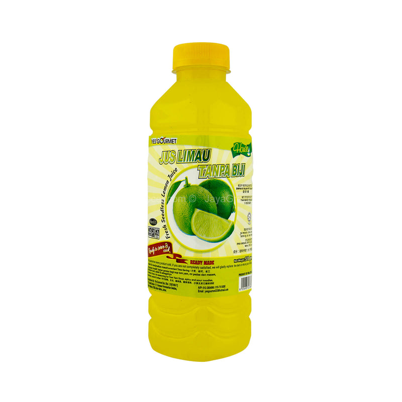 Yes Gourmet Fresh Seedless Lime Juice 510g