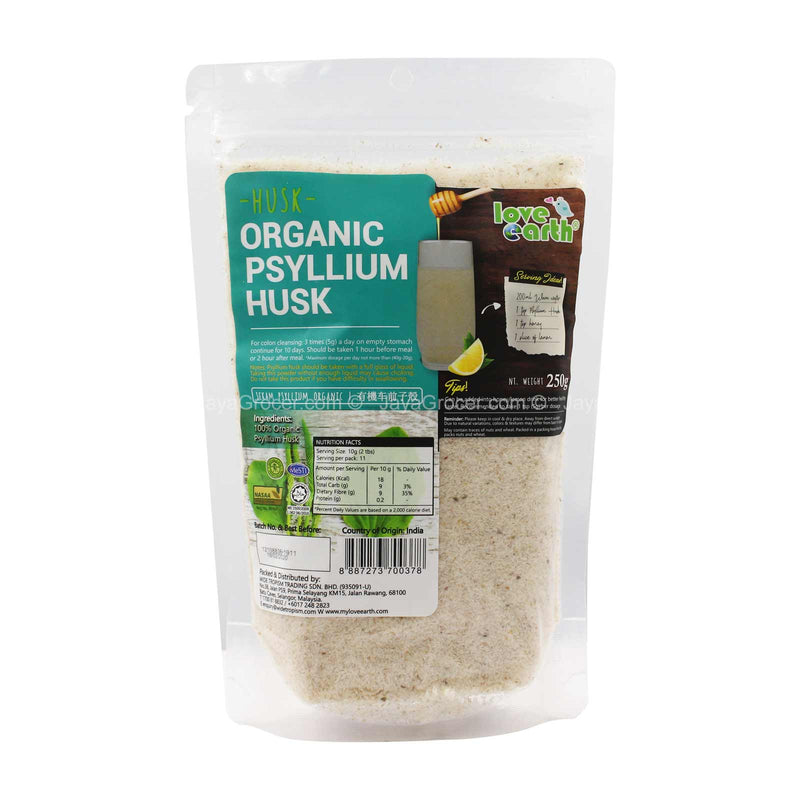 Love Earth Organic Psyllium Husk 250g