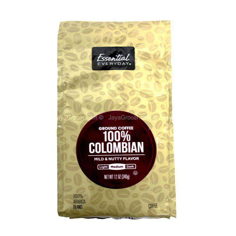 Essential Everyday 100% Colombian Ground Coffee 340g