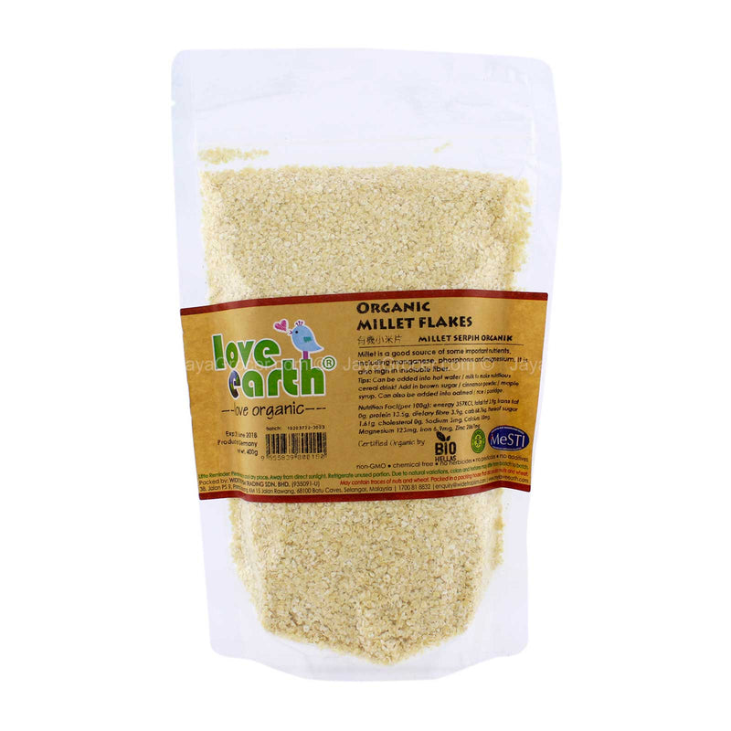 Love Earth Organic Millet Flakes 400g