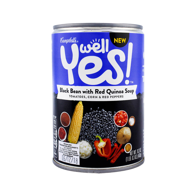 Campbell's Well Yes! Black Bean with Red Quinoa Soup 463g