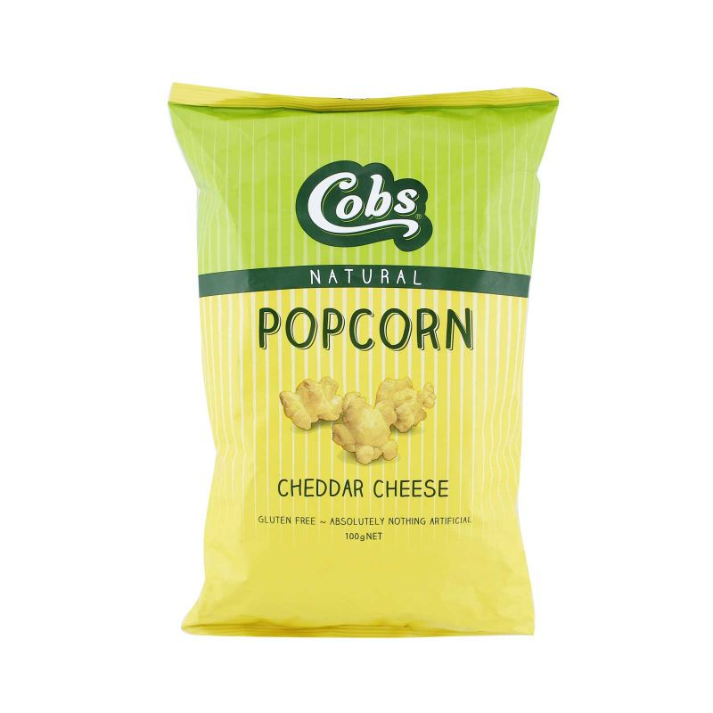 Cobs Natural Popcorn Cheddar Cheese 100g