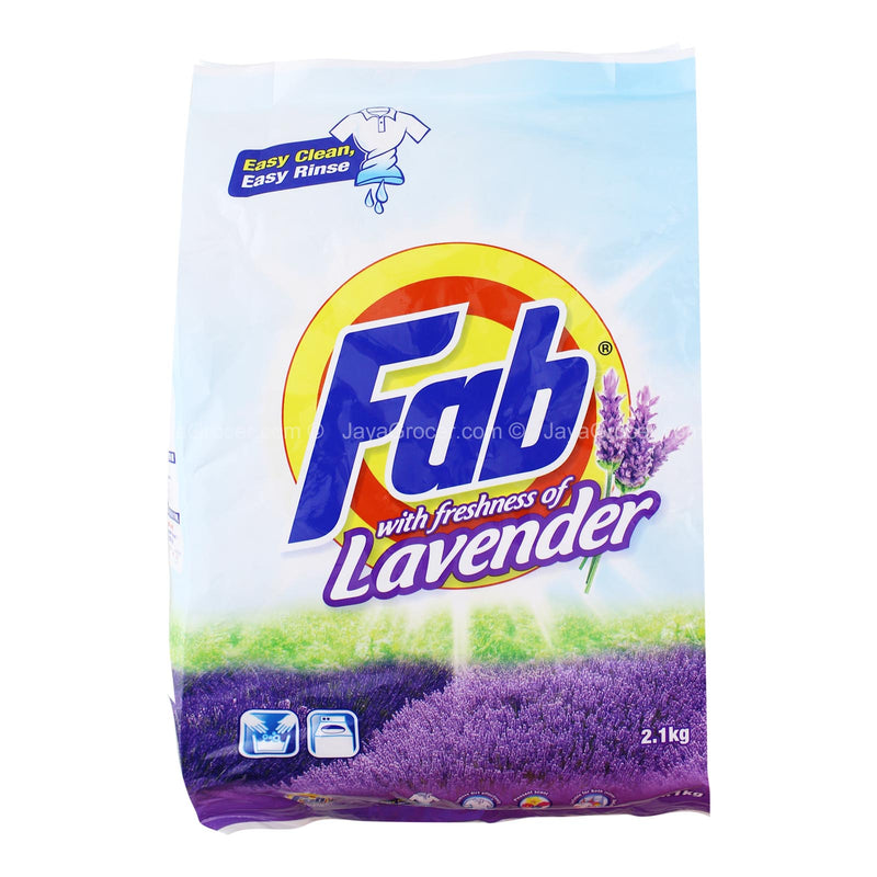 Fab Detergent Powder with Freshness of Lavender 2.1kg
