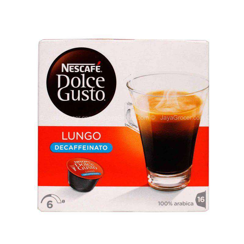 Nescafe Dolce Gusto Decaffeinated Lungo Coffee Pods 112g