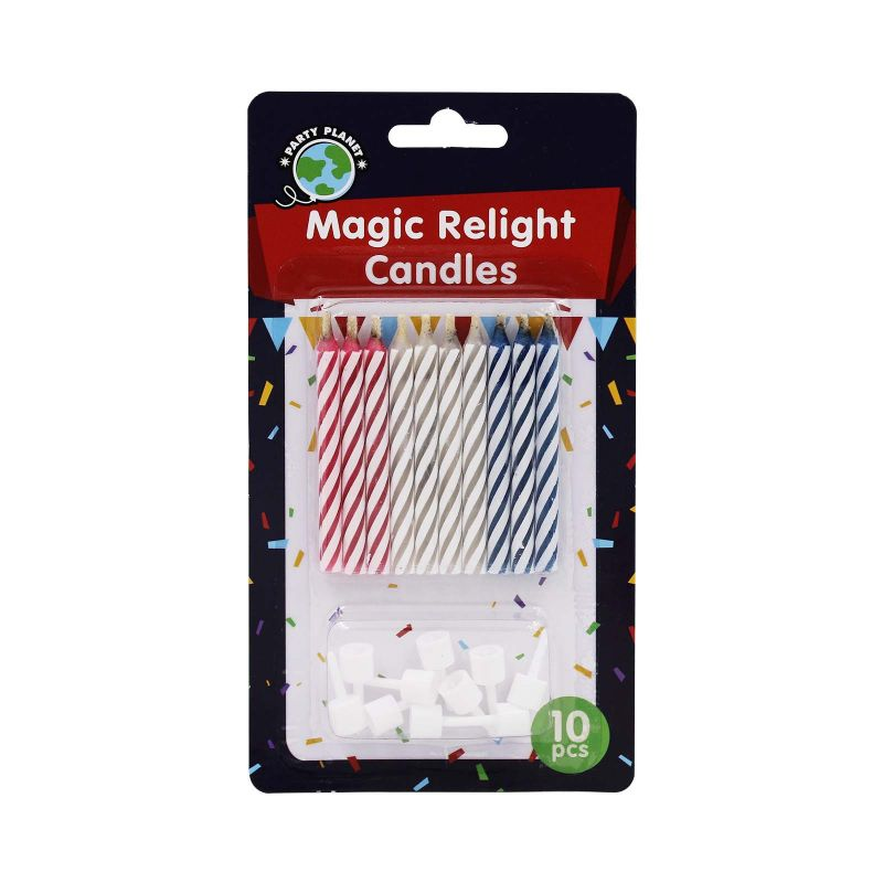 Party Planet Magic Relight Candles 10pcs