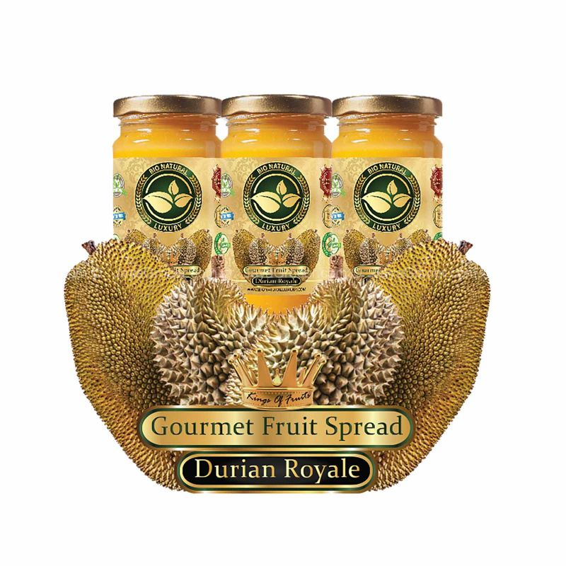 Bio Natural Luxury Durian Royale Gourmet Fruit Spread Gift Box 100g x 3