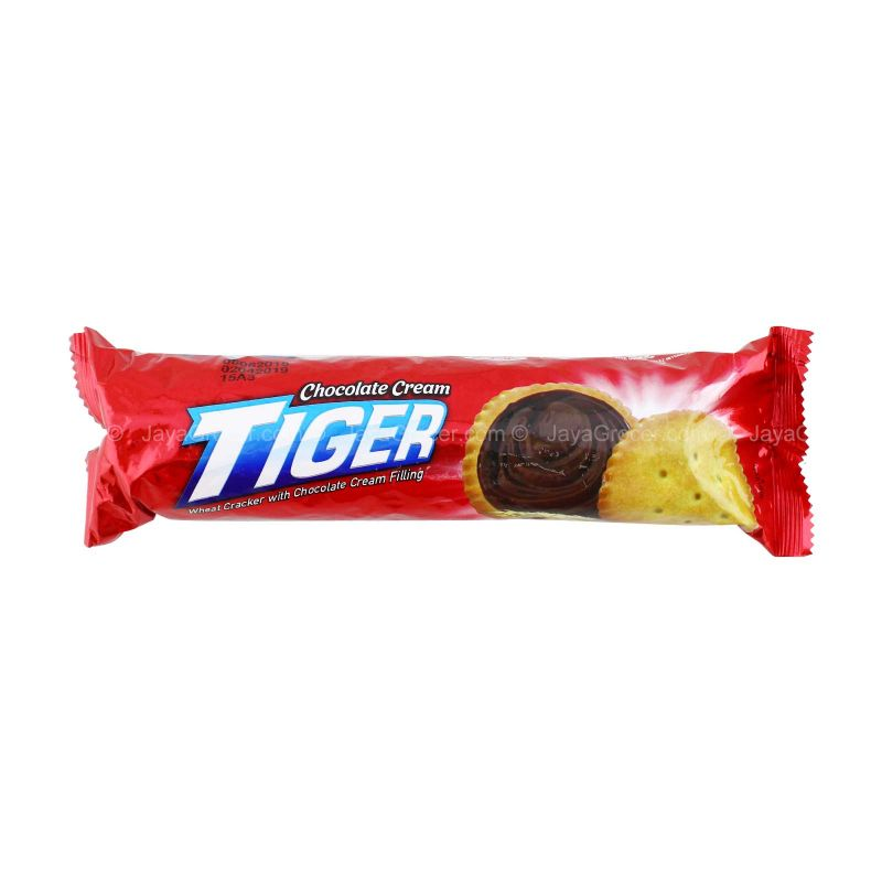 Tiger Wheat Cracker with Chocolate Cream Filling 118g