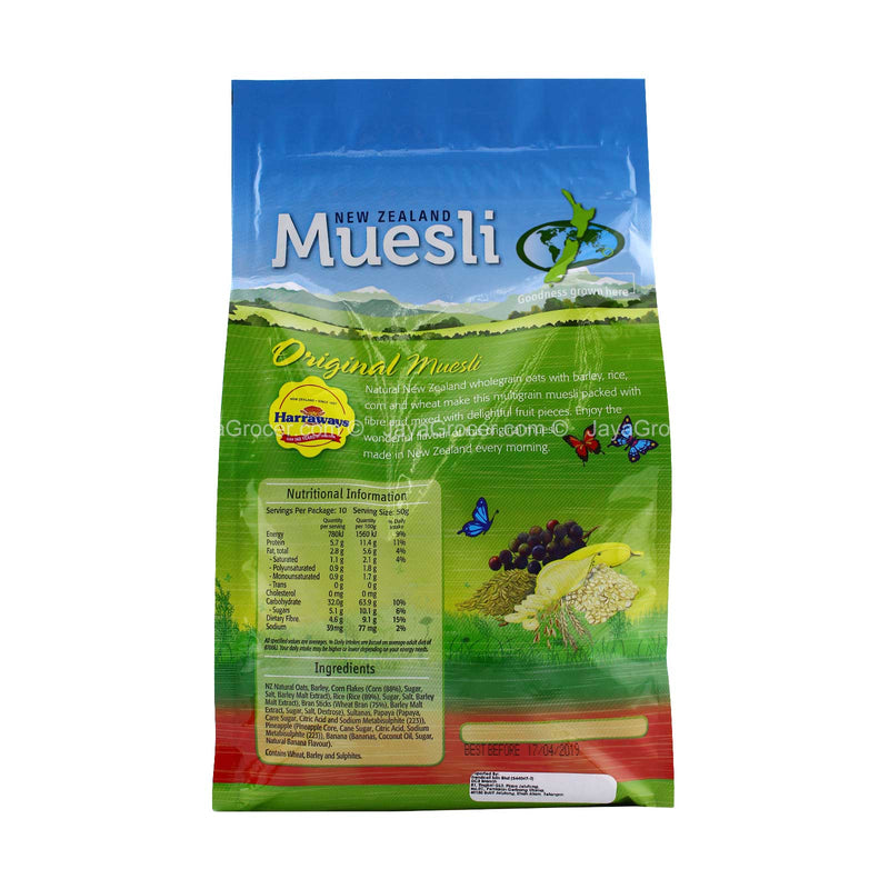Harraways New Zealand Original Muesli 500g