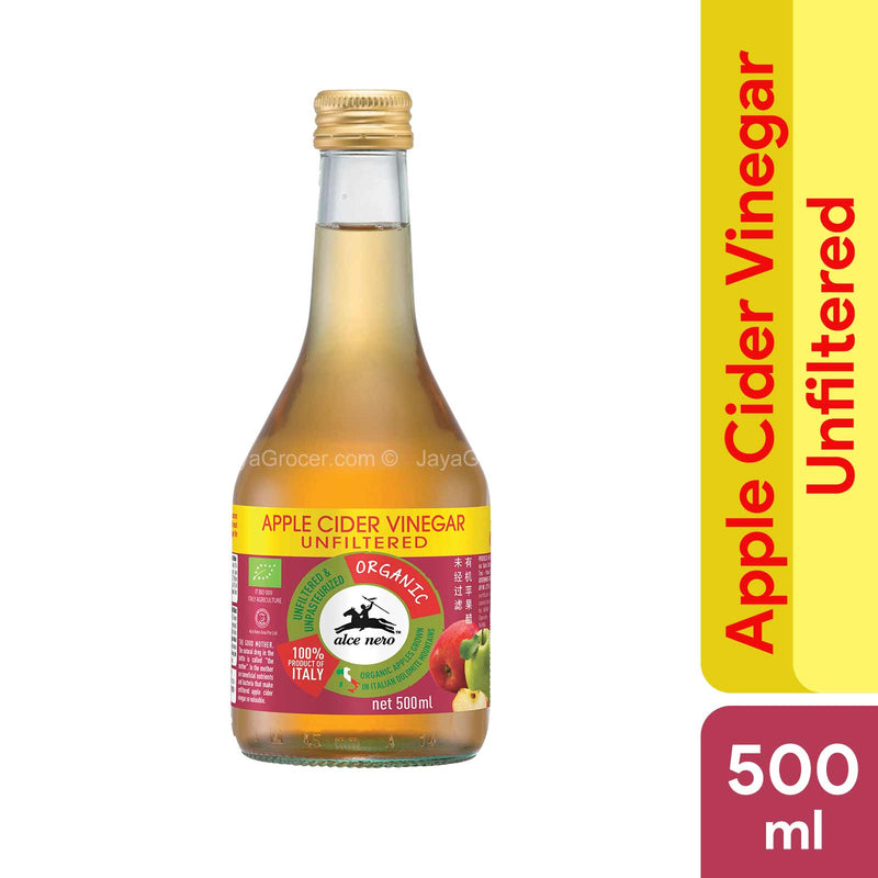 Alce Nero Organic Unfiltered Apple Cider Vinegar 500ml