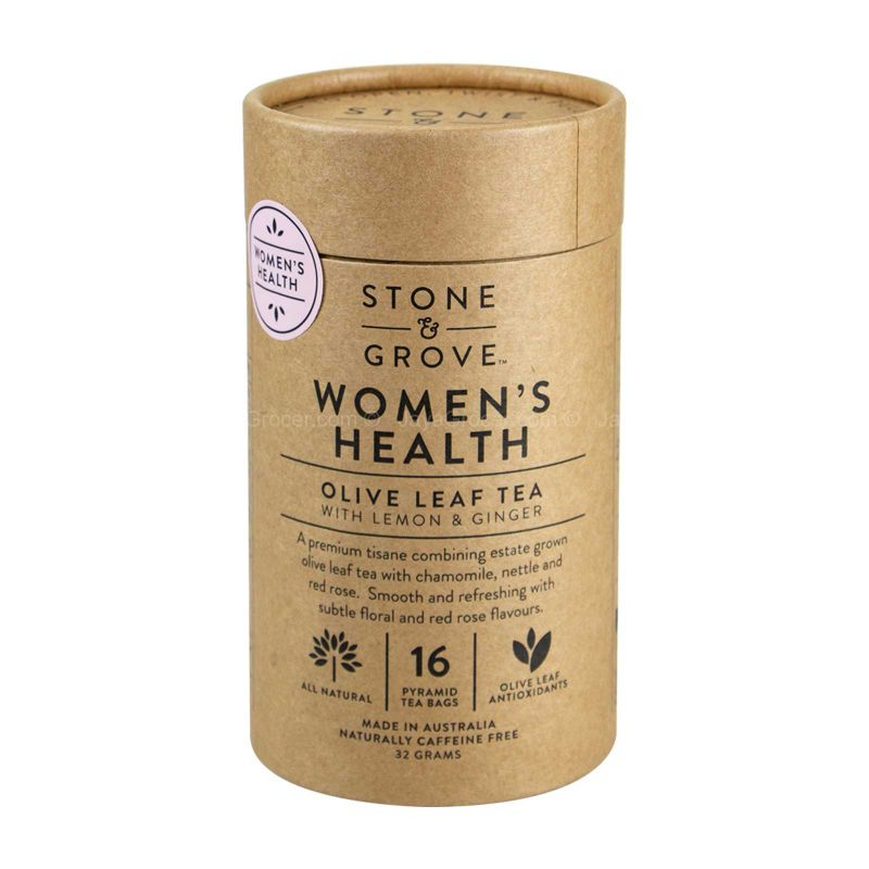 Stone & Grove Women's Health Olive Leaf Tea with Chamomile & Rose Petals 32g