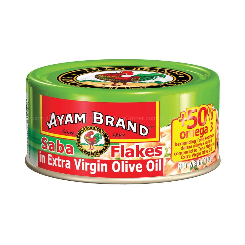 Ayam Brand Saba Flakes in Extra Virgin Olive Oil 150g