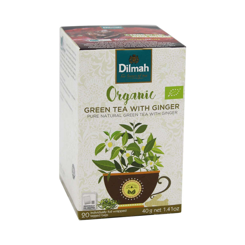 Dilmah Organic Green Tea with Ginger 40g