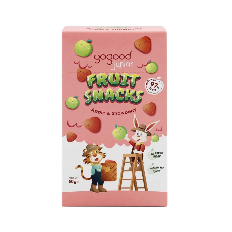 Yogood Junior Fruit Snacks Apple & Strawberry 50g