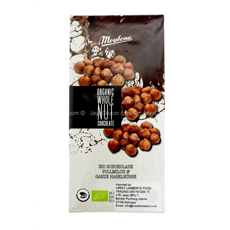 Organic Whole Hazelnut Chocolate 100g