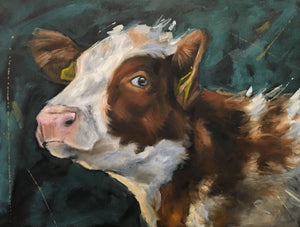 Just looking is an oil painting by Patricia Cotterill that captures the beauty of the animal while drawing your attention to the eye..