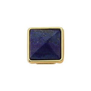 true - Slider Charm - Blue Stone Gold