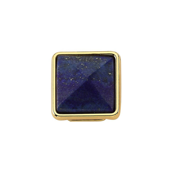Slider Charm - Blue Stone Gold