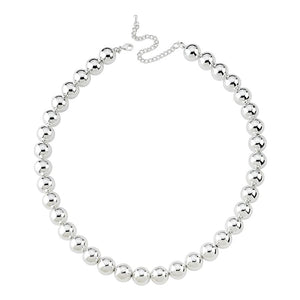 true - GZ Beads Necklace - Silver 12 mm
