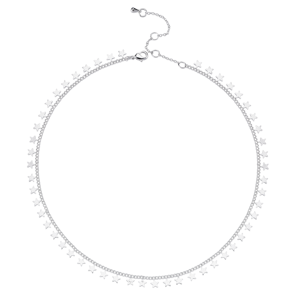 Star Chain Necklace - Silver