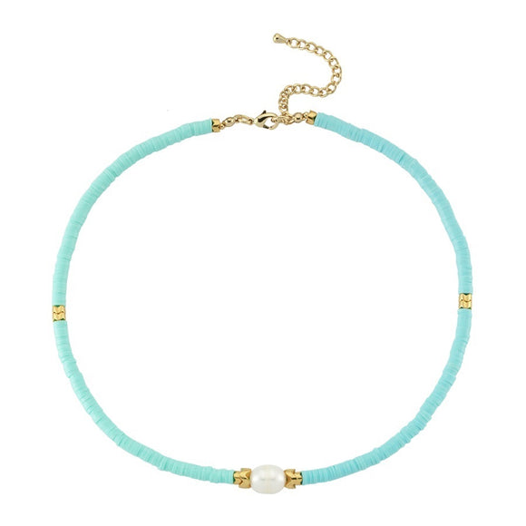 Gz Hematite Necklace - 1 Aqua