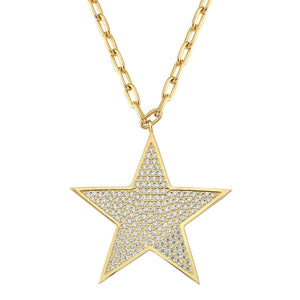 true - Star Necklace 925 - Gold