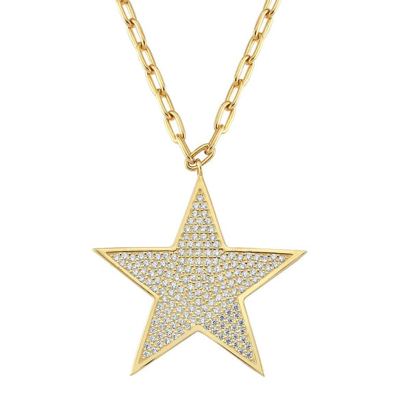 Star Necklace 925 - Gold