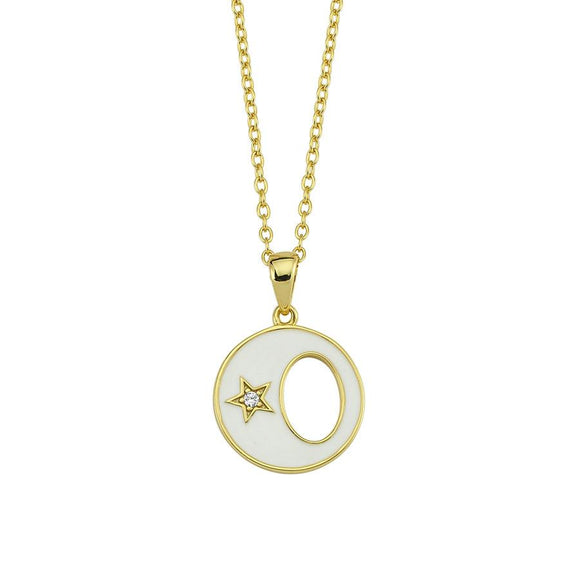 Amazing Moon Necklace - White- 925