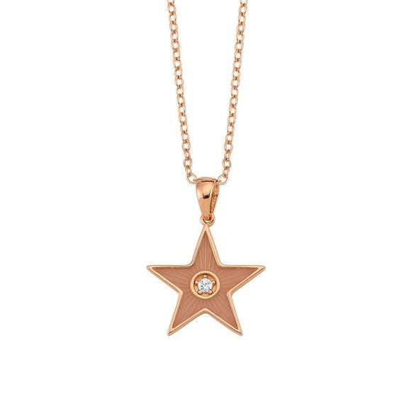Amazing Star Necklace - Pink - 925