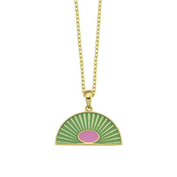 Amazing Necklace - Green - 925