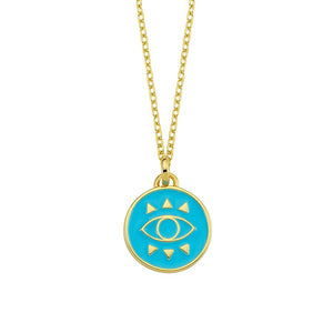 true - Amazing Nazar Necklace - Blue - 925