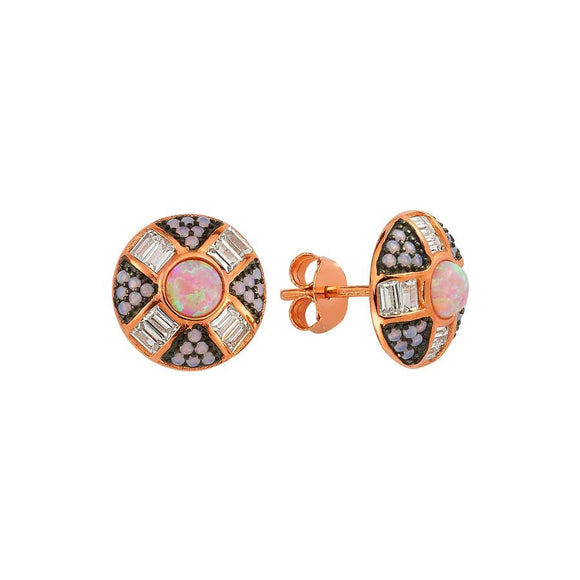 Opal Earring 925 - Rose