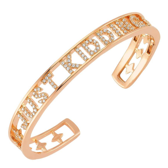 Cuff Just Kidding - Rose Gold - 925