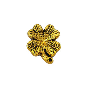true - Luzyo Charm - 3D Four Leaf Clover Gold