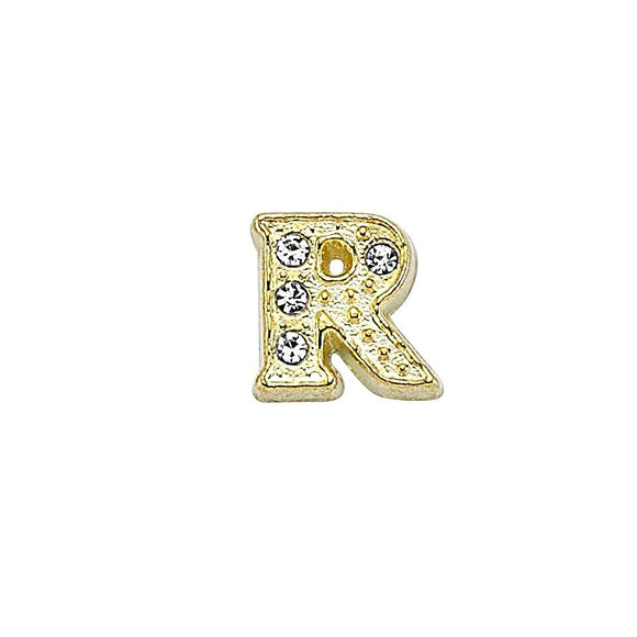 Luzyo Charm - Gold Letter R
