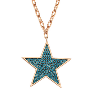 true - Star Necklace 925 - Blue