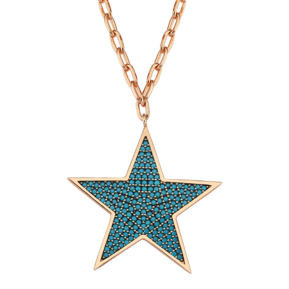 Star Necklace 925 - Blue