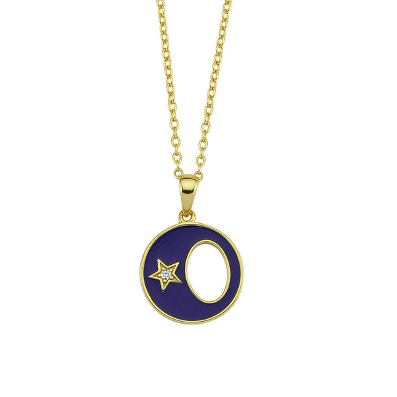 Amazing Moon Necklace - Blue- 925