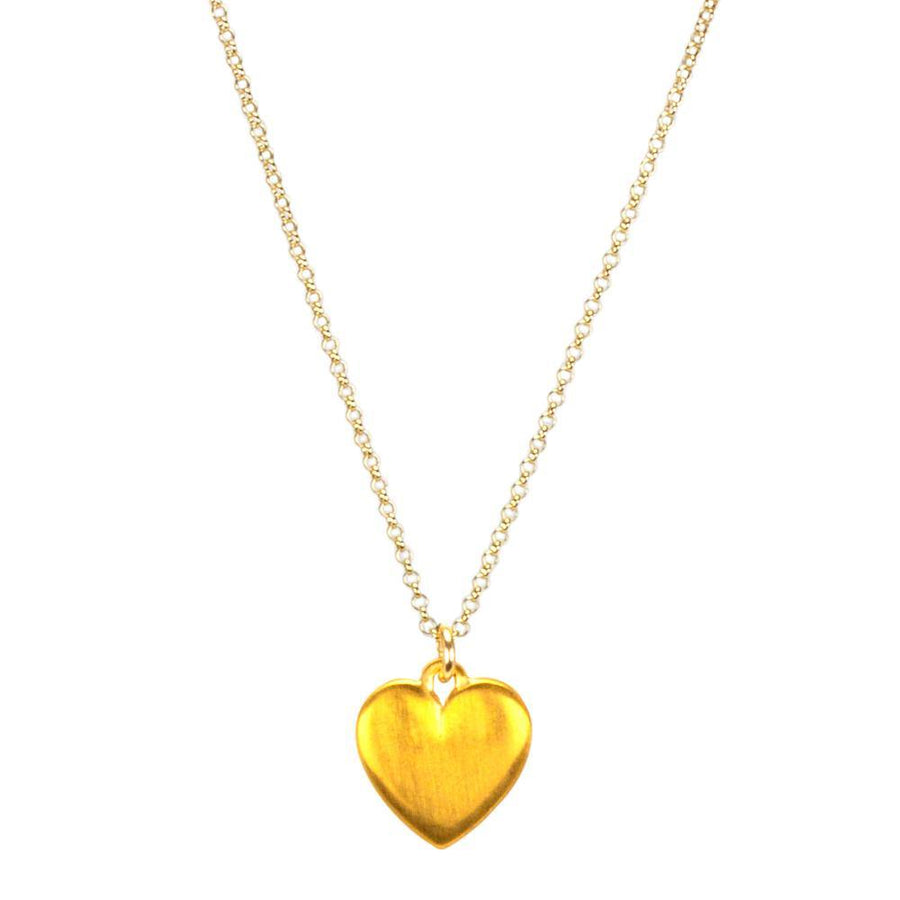 do all things with love large heart necklace