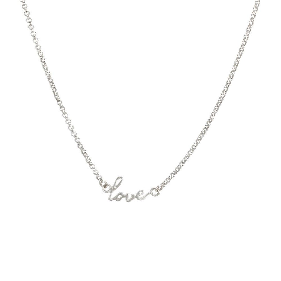 do all things with love script necklace