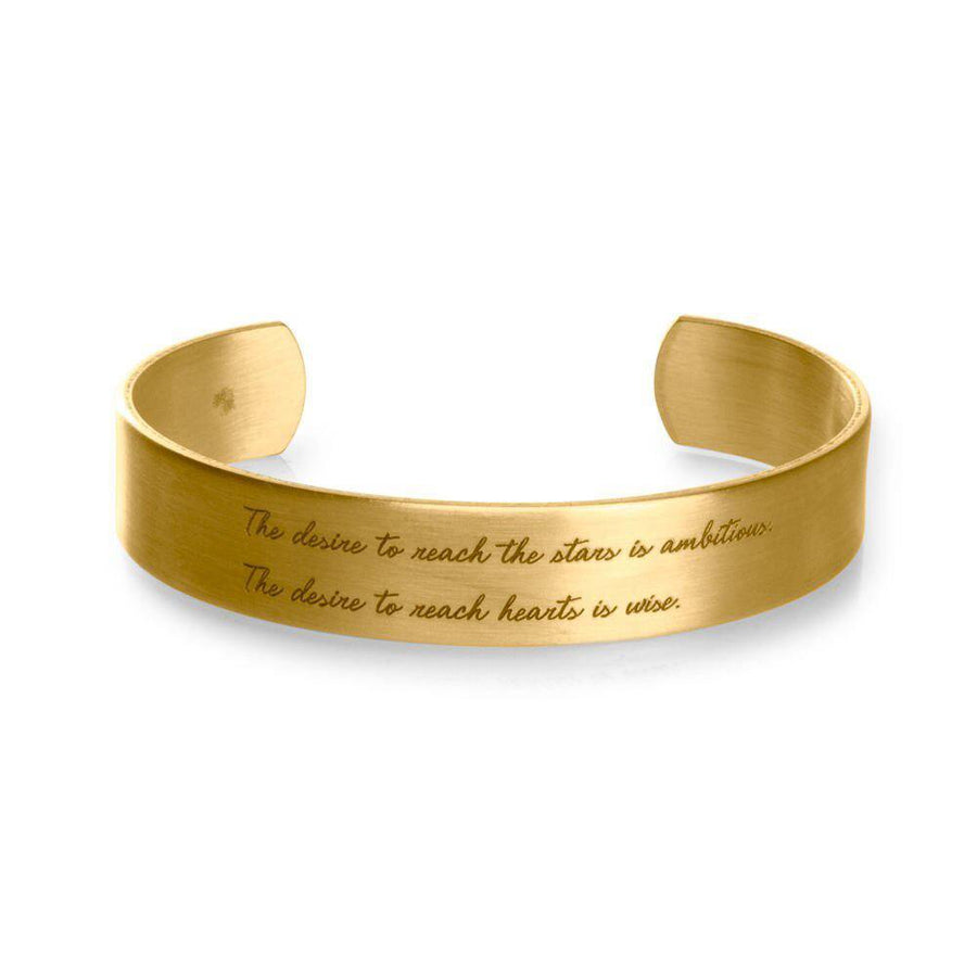 maya angelou the desire to reach the stars medium cuff