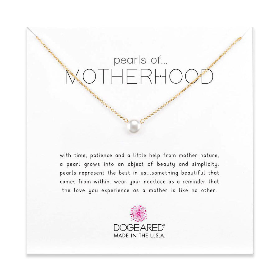 pearls of motherhood small pearl necklace, gold dipped