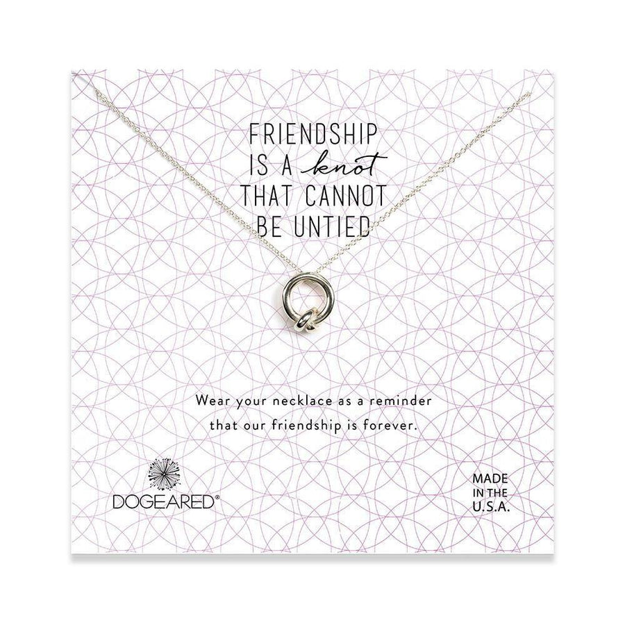 friendship is a knot charm necklace